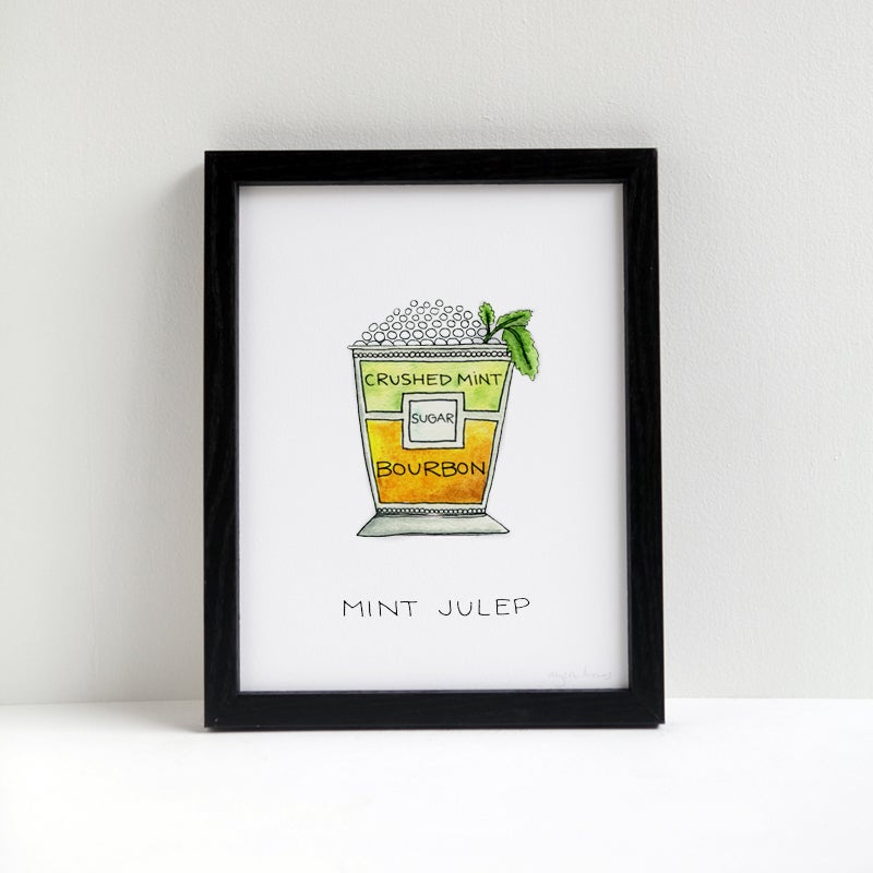 Image of Mint Julep Cocktail Print