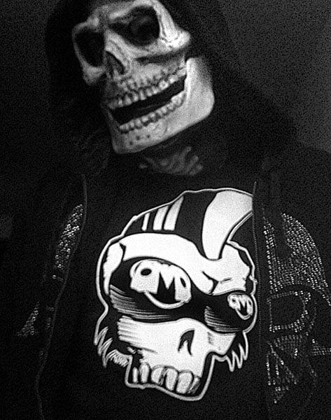 "Image of ""Victor Jr."" Punk mohawk skull shirt"