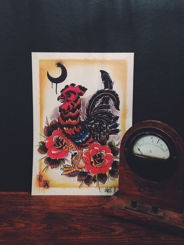 Image of Uncle Allan Rooster Print