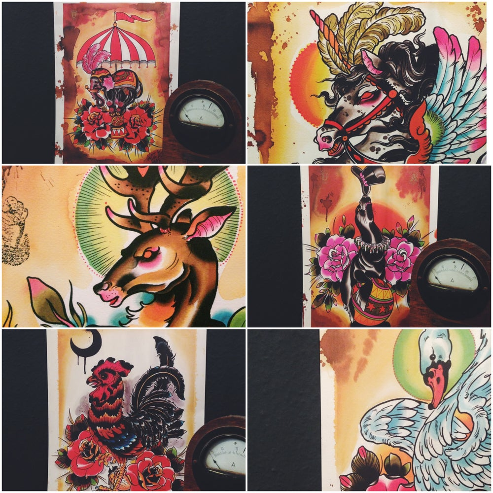 Image of All six Animal Prints