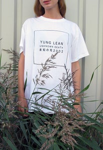 Image of YUNG LEAN UNKOWN DEATH 2002 TEE (SIZE M)
