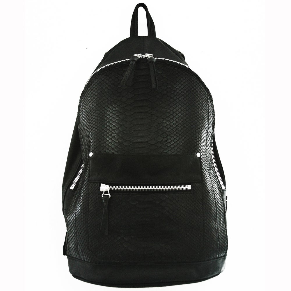 Image of Python Leather Collegiate Backpack