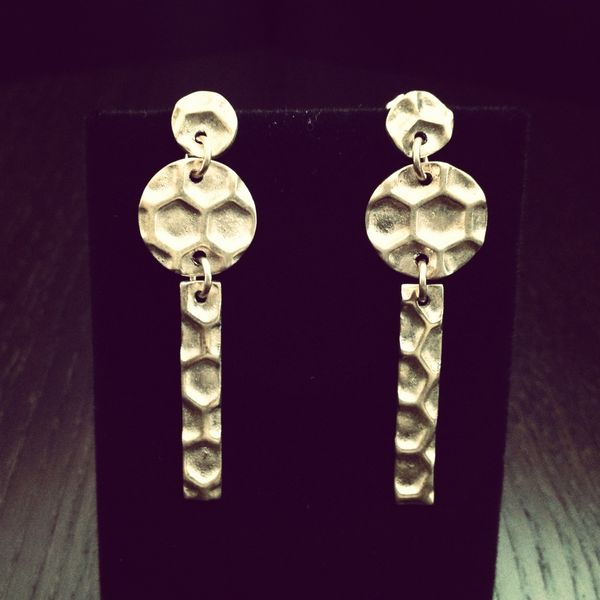 Image of Honeycomb Drop Earrings