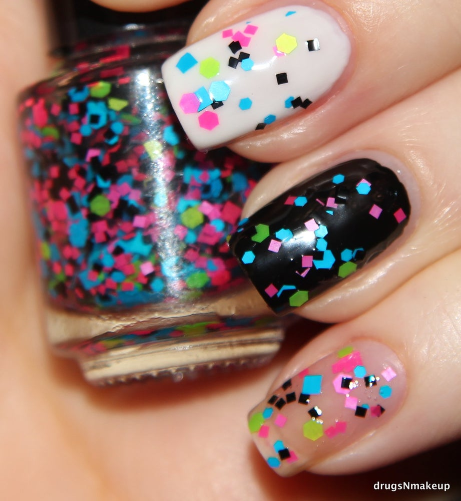 Image of Viral Video - Neon Glitter Nail Polish / Lacquer Ful  Size 15 ml / 0.5 oz Bottle