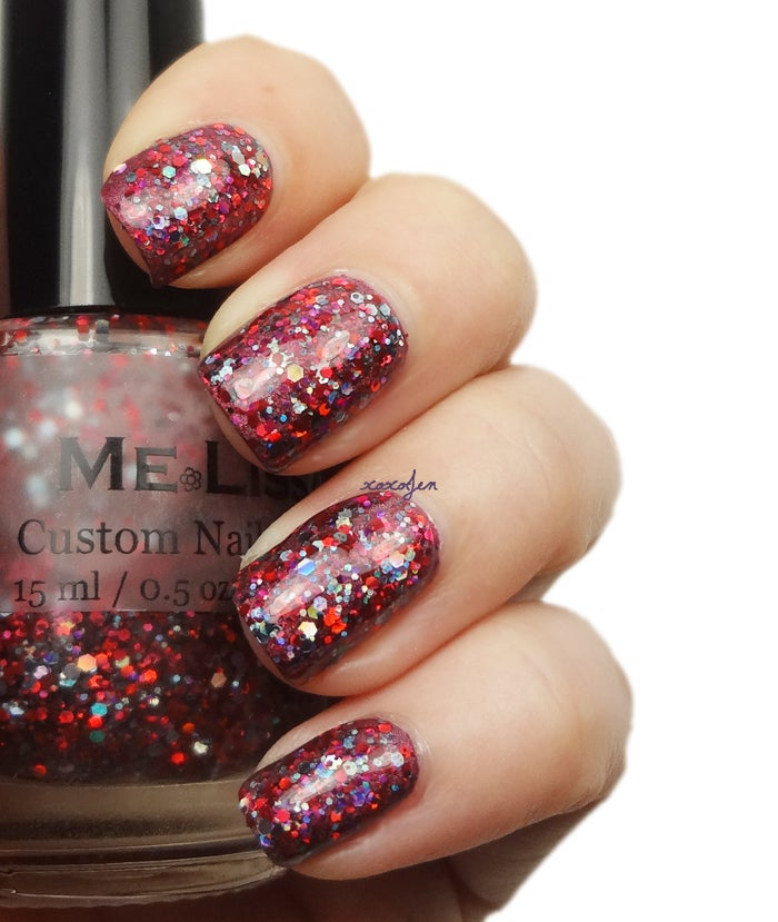 Image of Blur - Girl's Night Out Glitter Nail Polish / Lacquer Full Size 15 ml / 0.5 oz Bottle