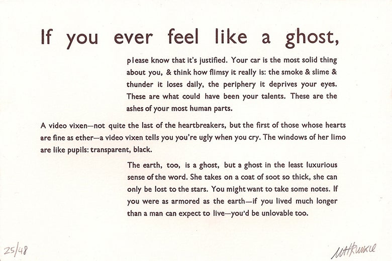 Image of If you ever feel like a ghost,