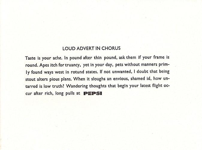 Image of Loud Advert in Chorus