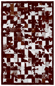 Image of 676685000965 Barcelona rug brown and white
