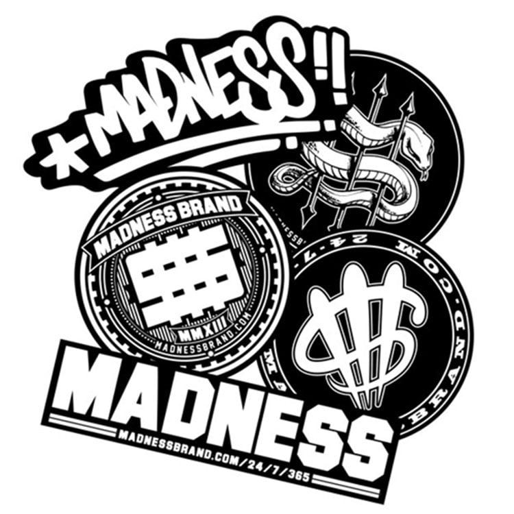 Image of Madness Brand Sticker Pack