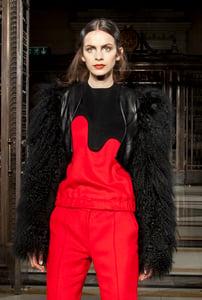 Image of Crop Fur Jacket