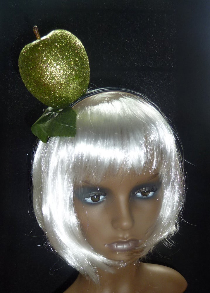 Image of Granny Smith goes Disco glitter headpiece