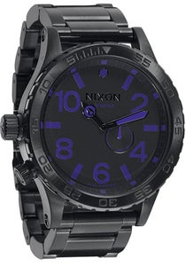 Image of Nixon 51-30 All Black/Purple