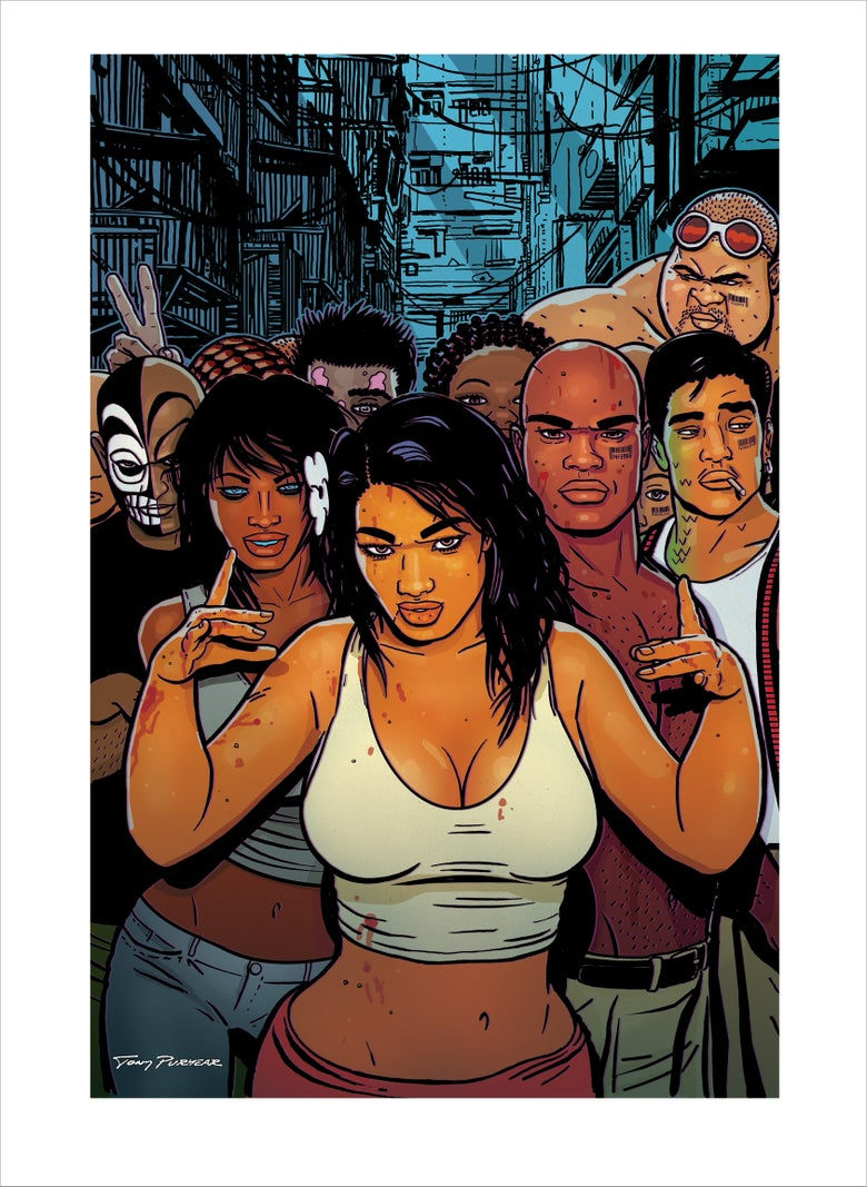 "Image of Concrete Park™ ""Gang Sign"" Art Print by Tony Puryear - Giclée 11.5""x16"" - Hand-signed, numbered"