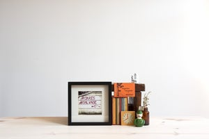 Image of oakes salvage framed photograph