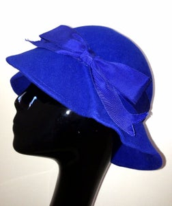 Image of Royal Blue Handmade Cloche