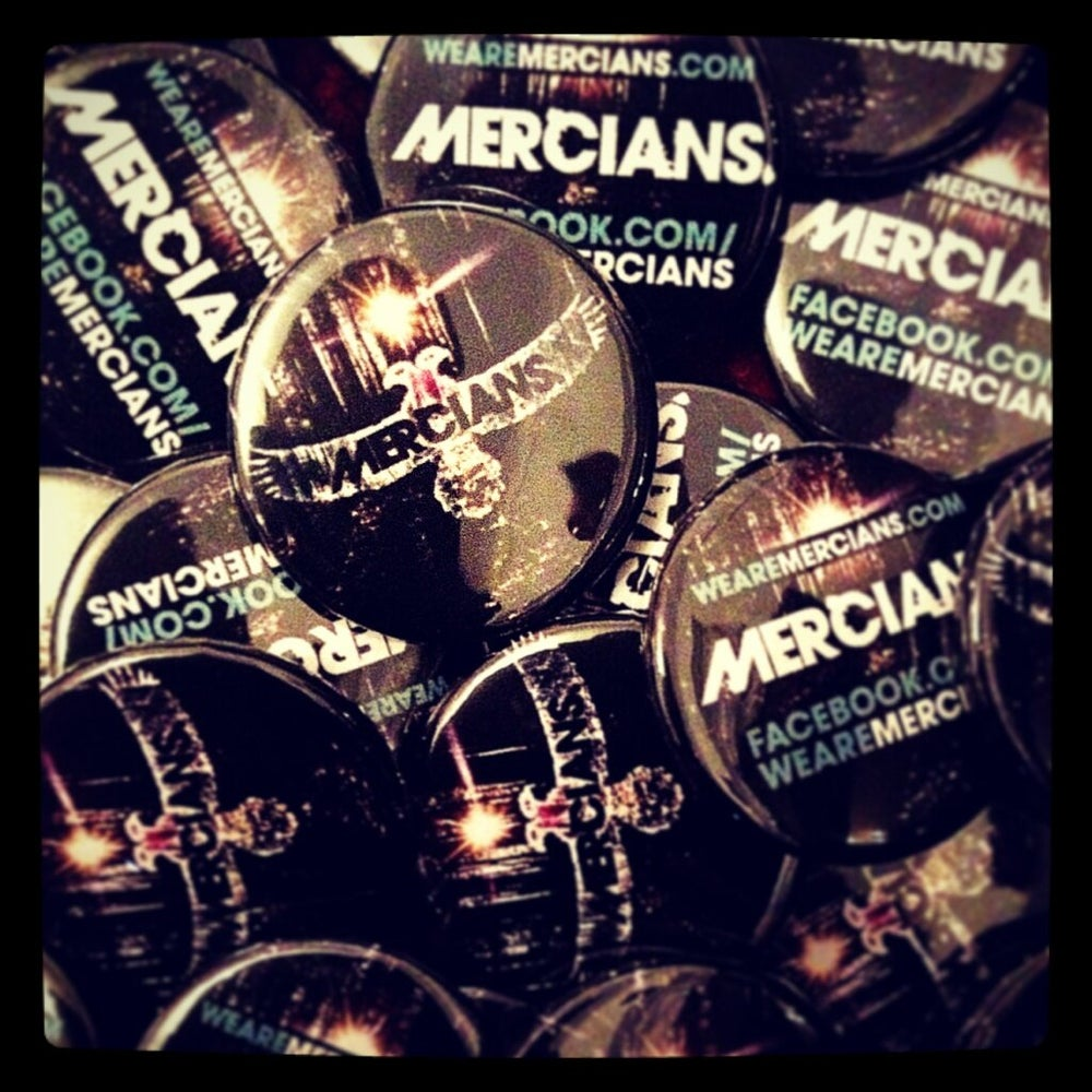 Image of Mercians Button/Badge