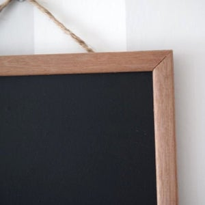 Square Chalkboard with Rounded Brown Frame