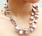Image of Freshwater Pearl and Ametrine Necklace