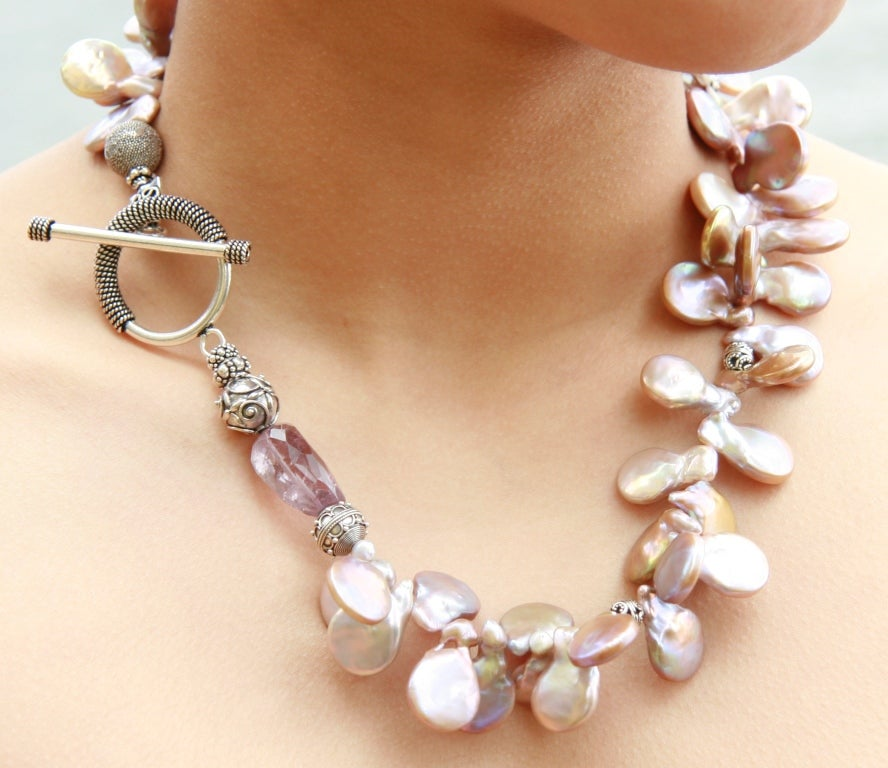 Freshwater Pearl and Ametrine Necklace