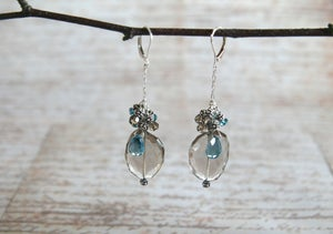 Image of London Blue Topaz and Smokey Quartz Earrings