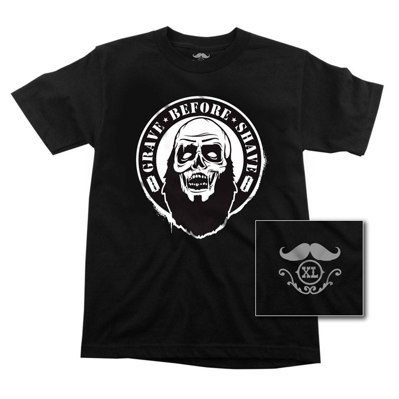 Image of GRAVE BEFORE SHAVE Zombie Beard Tee