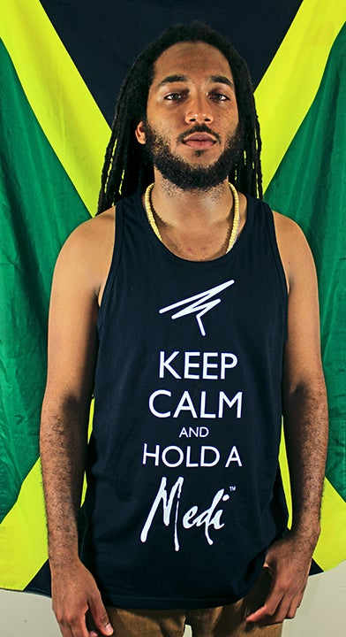 Image of Keep Calm Black Tank
