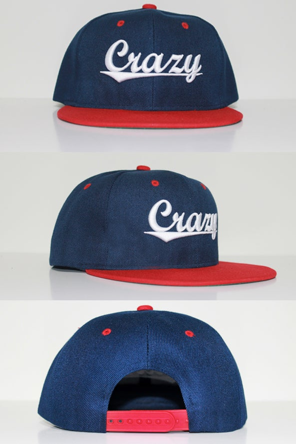 Image of CG Crazy Navy & Red Snap Back
