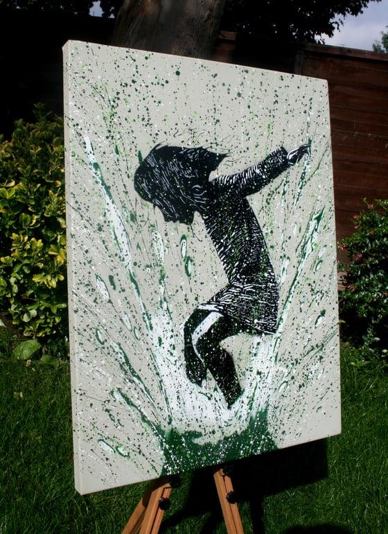 """Image of """"SplashBack"""" Canvas Edition - Olive"""