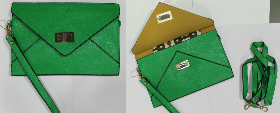 Image of Green Envelope Clutch