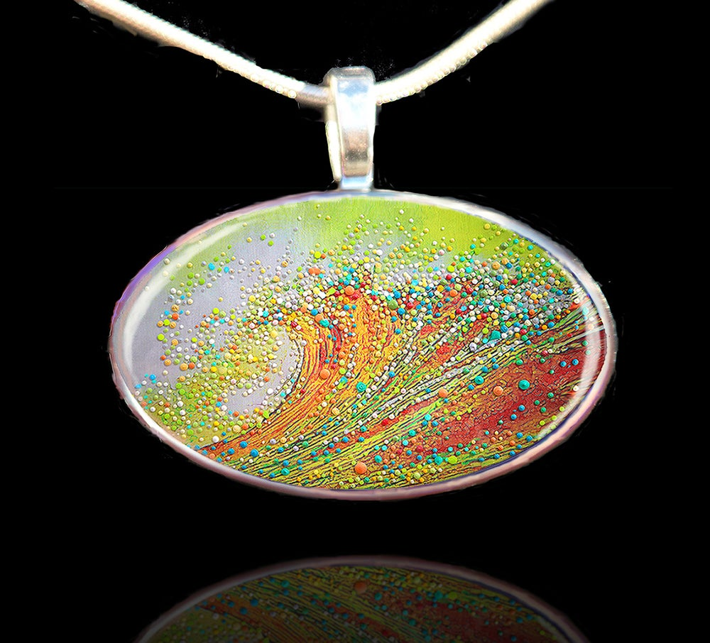 Image of Golden Wave Personal Growth and Transformation Pendant
