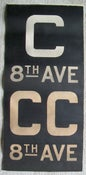 Image of 1940s IND New York Subway Sign w/Routes: C 8TH AVE, 14x28 inches