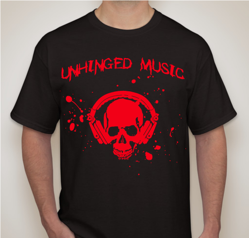 Image of Unhinged Music Skull T-Shirt
