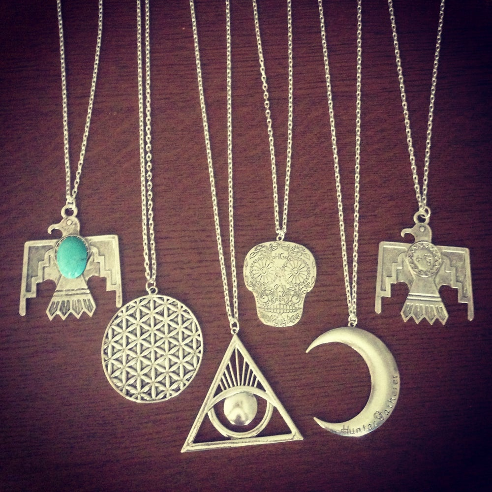 Image of HG statement symbol necklaces