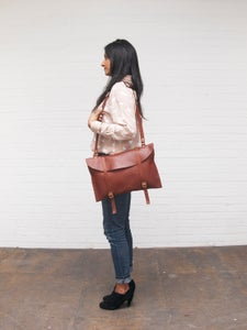 Image of Leather Laptop Bag.