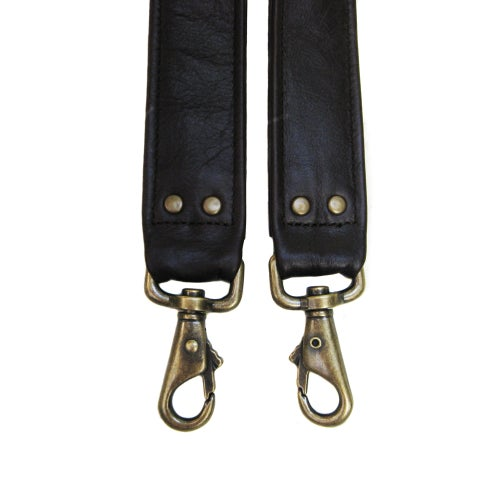 "Image of Crossbody / Messenger Bag Strap - Choose Leather Color - 50"" Length, 1.5"" Wide, #6 Swivel Snap Hooks"