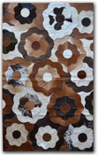 Image of 676685002082 Leather Stitch Hide - Fiori Tricolore