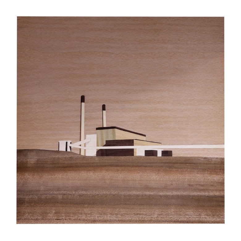Image of Cockenzie Power Station - 21 x 21cm Digital Print