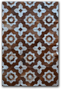 Image of 676685001610 Leather Stitch Hide - Marrakeche Brown & White
