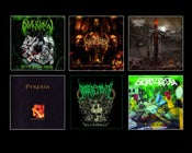 Image of AVGRUNN / MAKATTOPSY / PYREXIA / GODLESS TRUTH / UNBREAKABLE HATRED / EXORCIZPHOBIA CDs