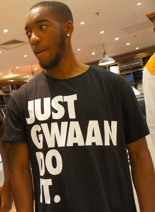 Image of JUST GWAAN DO IT UNISEX T-Shirt - BLACK