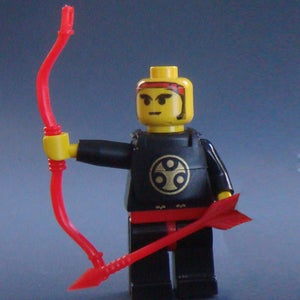 Image of CRAZY ARMS! Straight arms for your minifigures - Pair BLACK