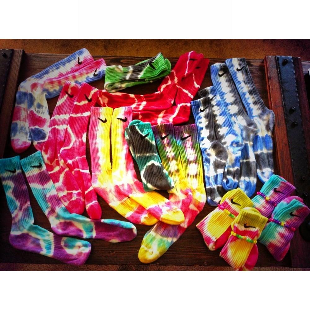 Image of tie dye socks