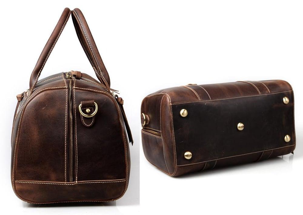 e50649a308 ... Image of Handmade Vintage Leather Duffle Bag