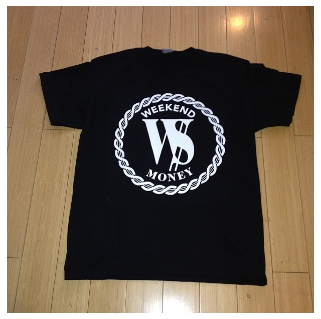 Image of W$ LOGO SHIRT BLACK/WHITE