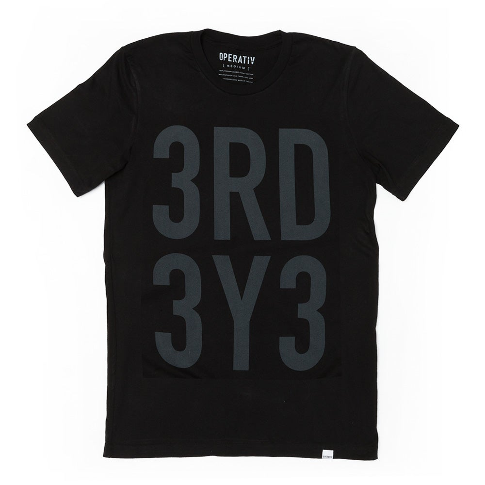 Image of 3RD 3Y3 SHIRT [ black ]