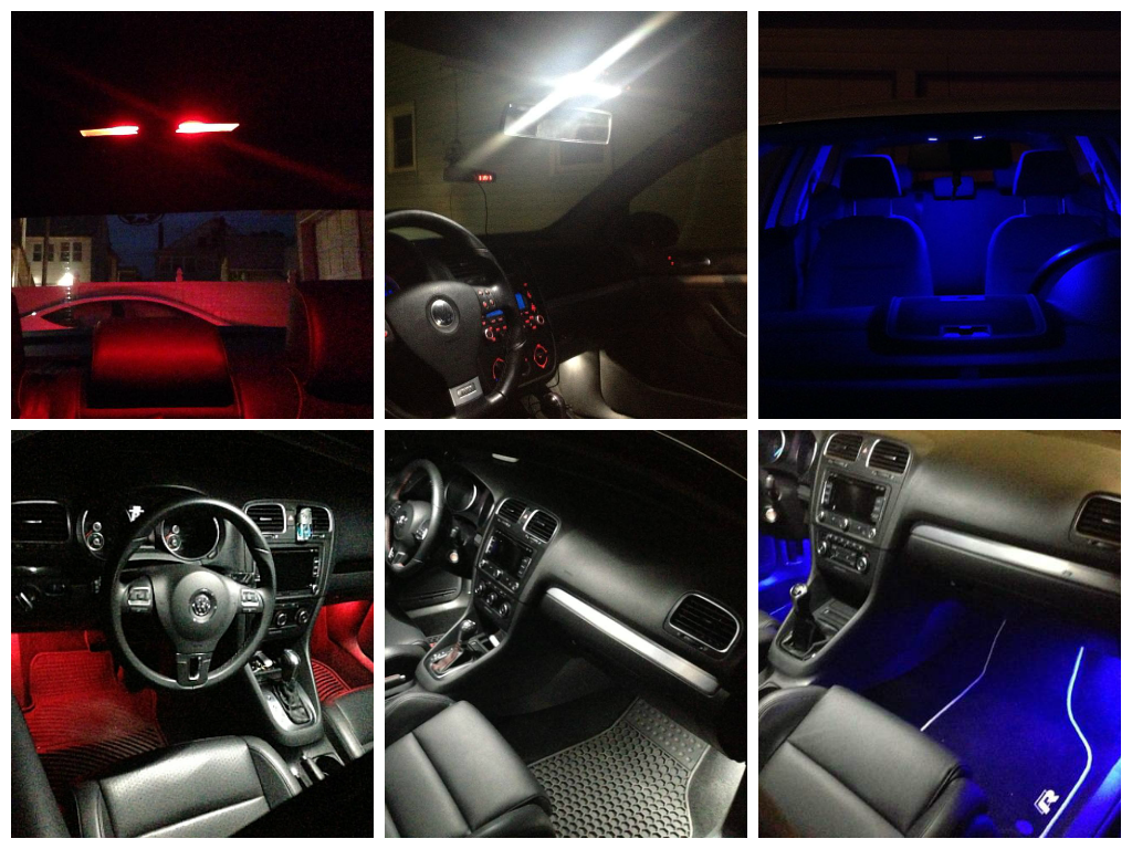 Image of 13pc Complete Interior / License Plate LED Kit ERROR FREE Fits: Volkswagen MK5 Jetta all models