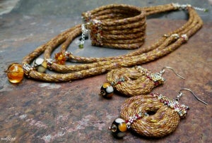 Image of SALE! Oakenshield, handmade kumihimo jewelry set