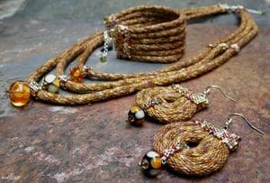 Image of SALE! Oakenshield, handmade kumihimo jewelry set