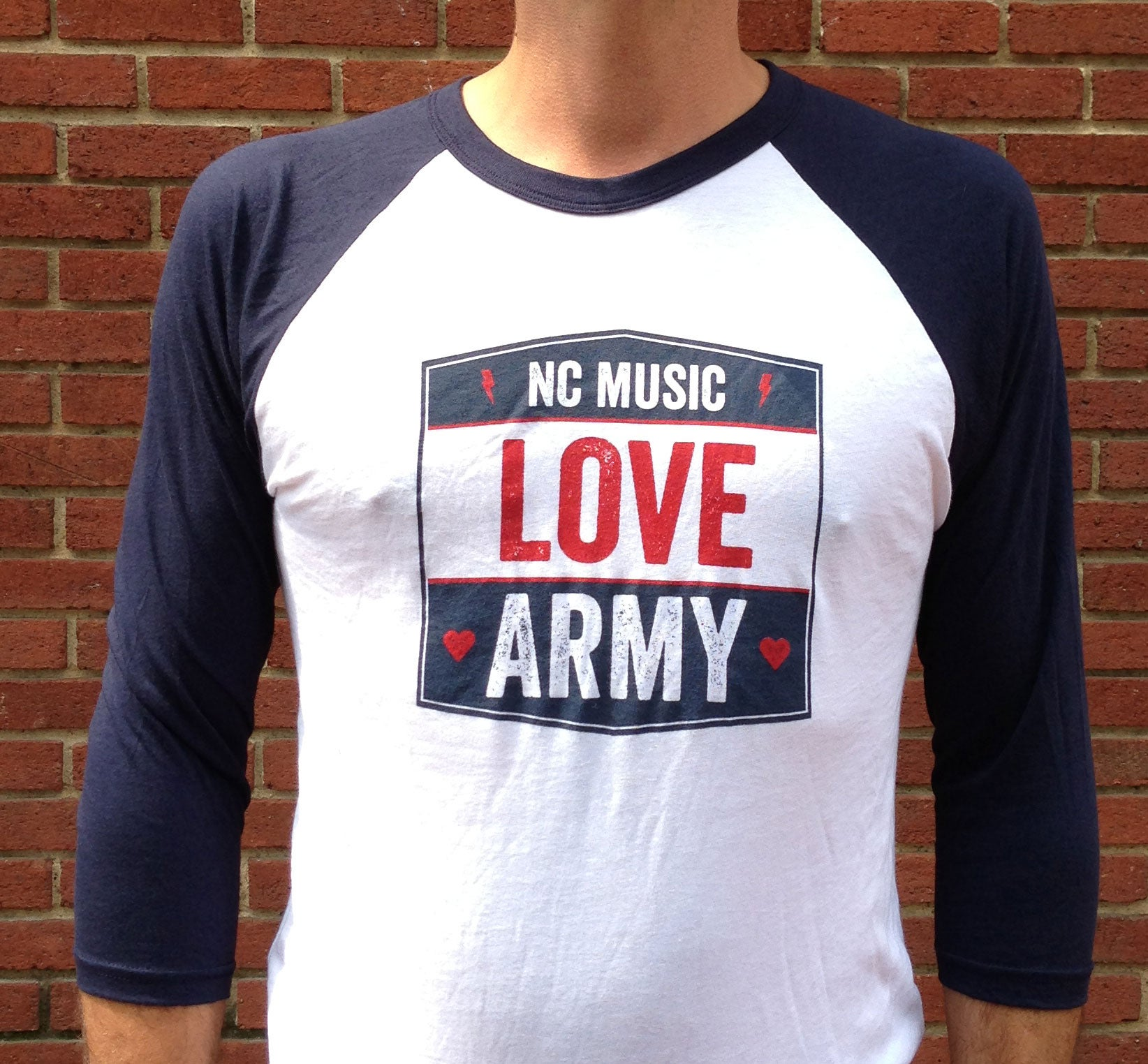 NC Music Love Army Tees