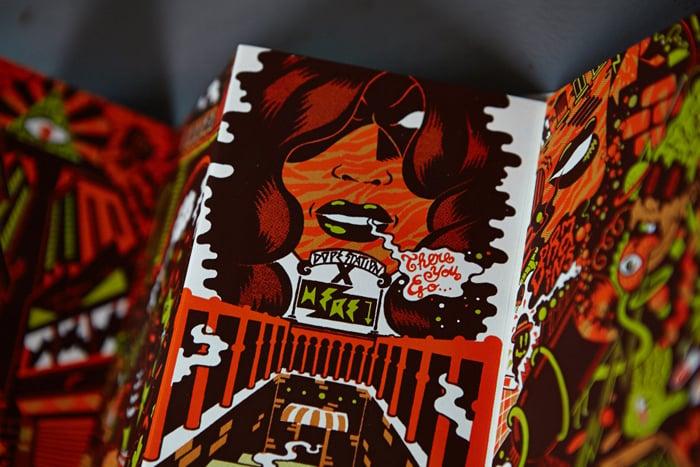 """PARANOIA BABYLONE"" by Math FREAK CITY (2013) Screenprinted Book"